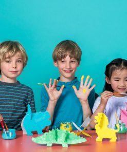 Papp Spielzeug Tiere zum Anmalen, Bibabox