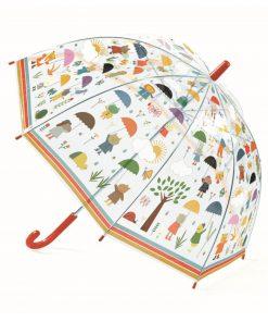 Regenschirm für Kinder kleine Freuden, Transparent, Djeco/Little Room