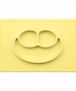 Silikon Teller, haftet auf dem Tisch, Happy Mat lemon/gelb, ezpz