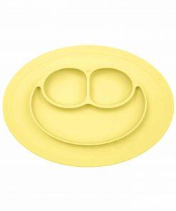 Silikon Teller, haftet auf dem Tisch, Mini Mat lemon/gelb, ezpz