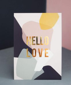 Postkarte hallo love gold, Kreativ Kollaps/Rasmussons/Paulsvera