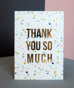 Postkarte Thank you so much, Kreativ Kollaps/Rasmussons/Paulsvera