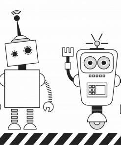Malunterlage/Schreibtischunterlage Roboter, laleloo