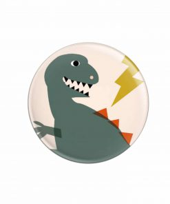 Button Kind Einschulung Dinosaurier, life is delicious