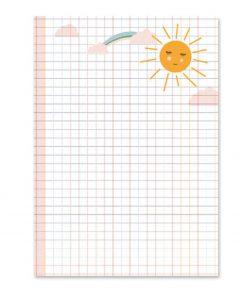 Schreibblock für Kinder Sonne/Einschulungsgeschenk, life is delicious