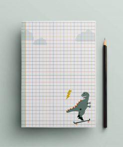 Schreibblock für Kinder Dinosaurier/Einschulungsgeschenk, life is delicious