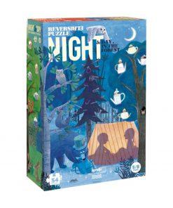 Puzzle beidseitig Waldspaziergang Tag/Nacht, Londji
