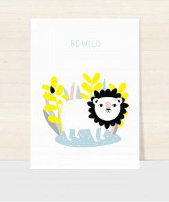 Postkarte Be Löwe Wild, Hello Hemmi