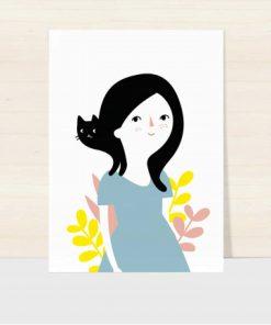 Postkarte Cat Hair Day, Hello Hemmi