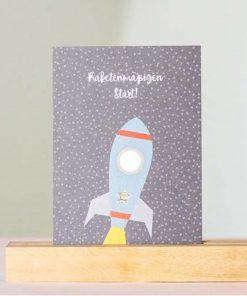 Postkarte Raketenmäßiger Start, Rasmussons