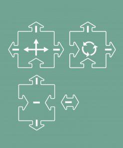 Flexible Spielstraße Erweiterung/Extension Crosses/Kreuzung, waytoplay