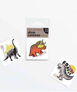 Tattoo Set Dinosaurier T-Rex, Brontosaurus & Triceratops, Wee Gallery